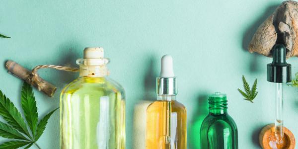 CBD oil bottles